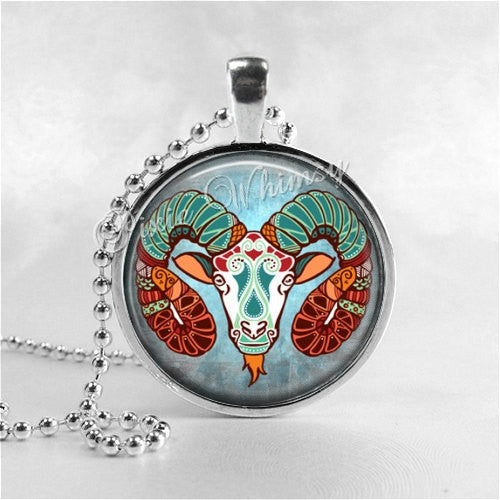 ARIES Necklace, Aries Pendant, Aries Jewelry, Astrology, Zodiac, Constellation, Star Sign, Zodiac Necklace,  Horoscope Necklace, Aries