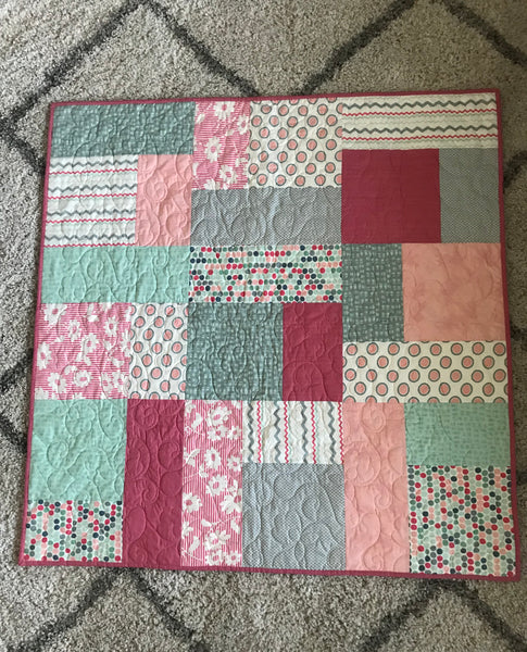 Baby Quilt with Minky Backing