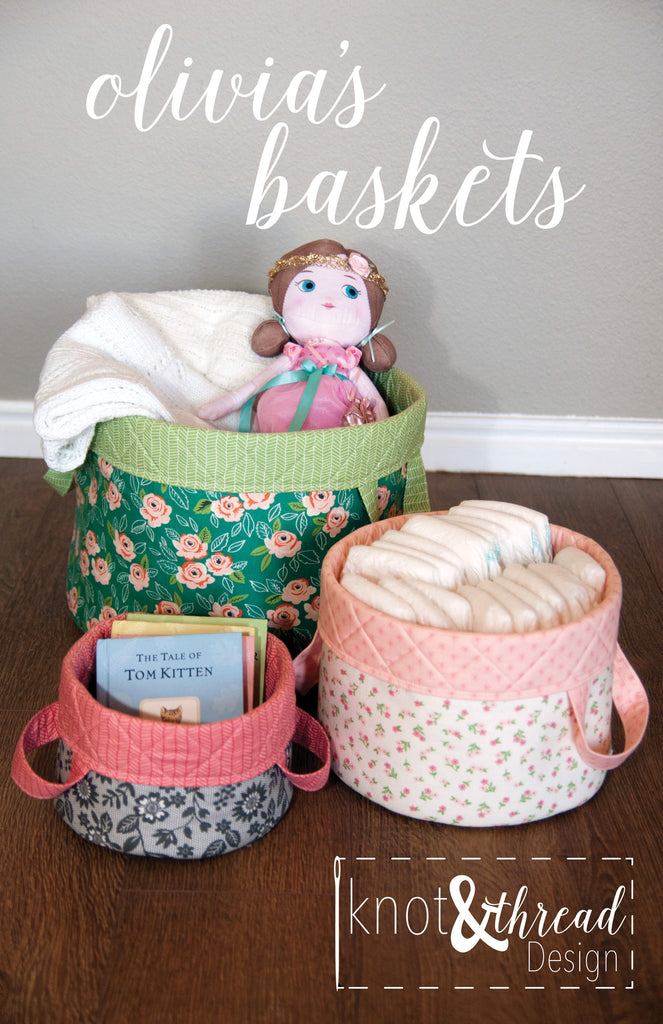 Olivia's Baskets (Paper Pattern)
