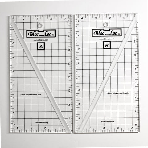 Bloc Loc Half Rectangle Triangle Ruler 4.5 x 8.5