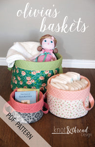 Olivia's Baskets (PDF Pattern)