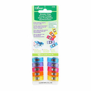 Clover Wonder Clips (Assorted Color) 10 pack