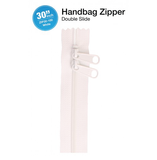 30'' Double Slide Handbag Zipper (WHITE)