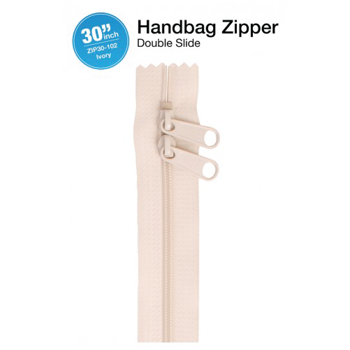 30'' Double Slide Handbag Zipper (IVORY)