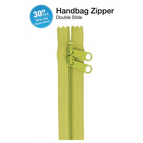 30'' Double Slide Handbag Zipper (APPLE GREEN)