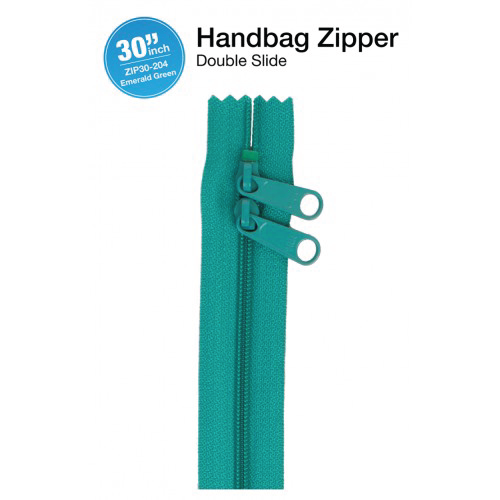 30'' Double Slide Handbag Zipper (EMERALD)