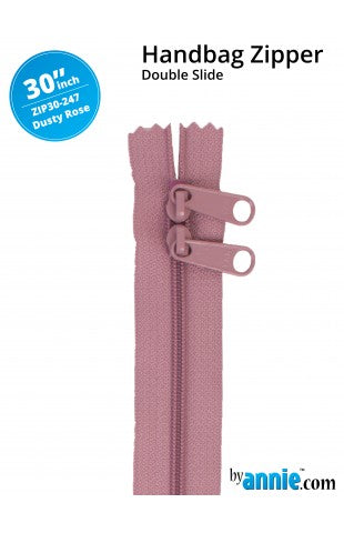 30'' Double Slide Handbag Zipper (DUSTY ROSE)