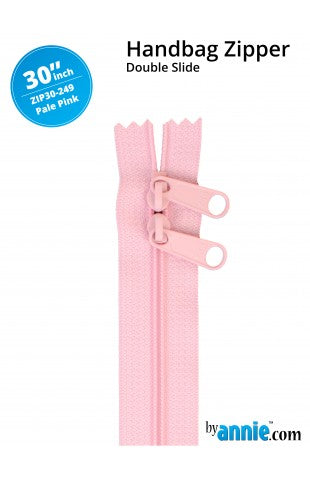 30'' Double Slide Handbag Zipper (PALE PINK)