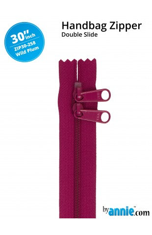 30'' Double Slide Handbag Zipper (WILD PLUM)