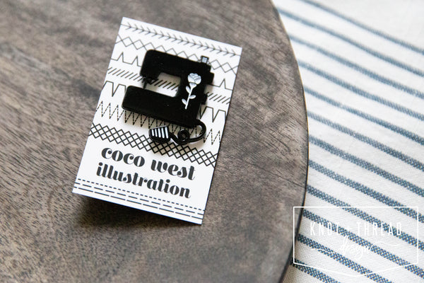 Sewing Machine Enamel Pin 1.25''