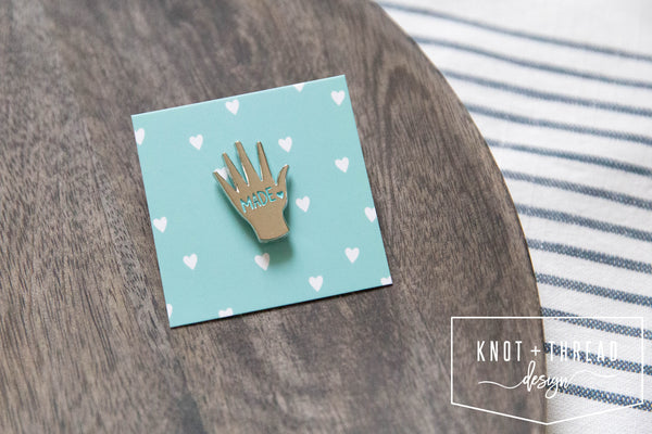 Hand Made (Silver) Enamel Pin 1.25''