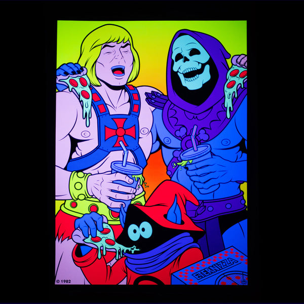 Best Friends He-Man and Skeletor BLACKLIGHT