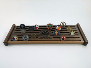 Large Challenge Coin Display -  Large Walnut 45-50 Challenge Coin Display  -   JonnyChapps Mercantile