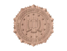 Load image into Gallery viewer, FBI Seal | STL 3D Model  -  FBI Seal | STL 3D Model  -  STL Files