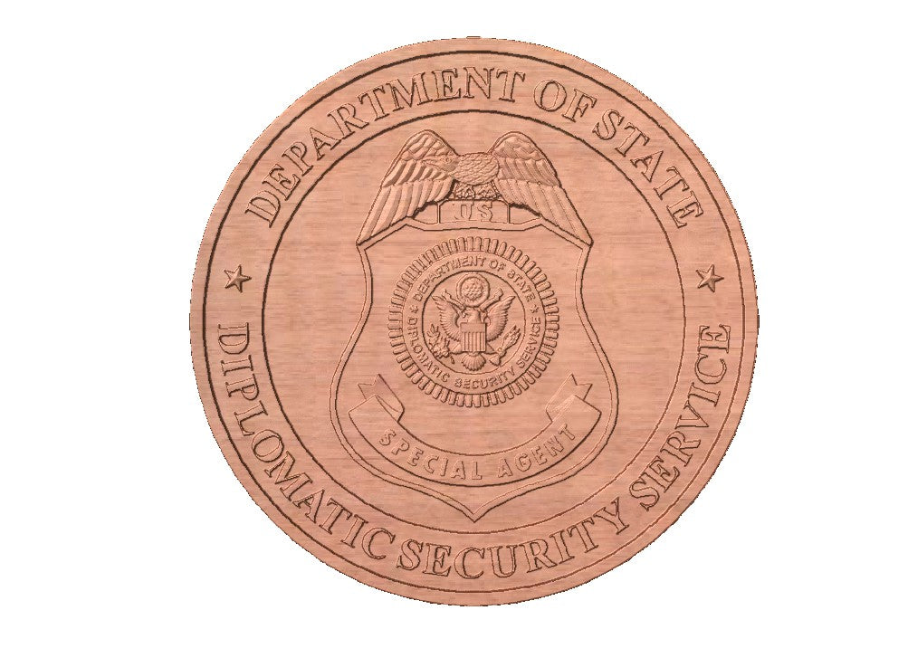 Diplomatic Security Services Seal | STL 3D Model  -  Diplomatic Security Services Seal | STL 3D Model  -  STL Files