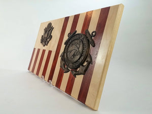Coast Guard Personalized Retirement Wood Flag Going Away Gift | USCG Gifts  -  Coast Guard Personalized Retirement Wood Flag Going Away Gift | USCG Gifts  -