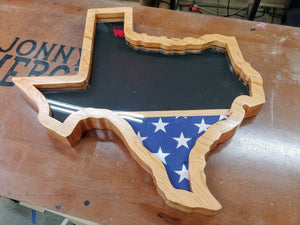 Texas Shaped Military Retirement Shadow Box  -  Texas Military Retirement Shadow Box  -  JonnyChapps Mercantile