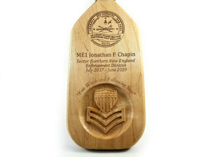 Military Award Paddle - Engraved Wooden Award Paddle - Award Paddle JonnyChapps Mercantile