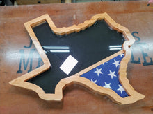 Load image into Gallery viewer, Texas Shaped Military Retirement Shadow Box -  Texas Military Retirement Shadow Box  -  JonnyChapps Mercantile