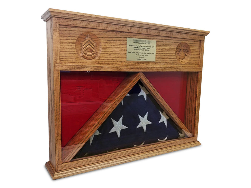 Burial Flag Display Case - Burial Flag Desktop Shadow Box - Shadow Box JonnyChapps Mercantile