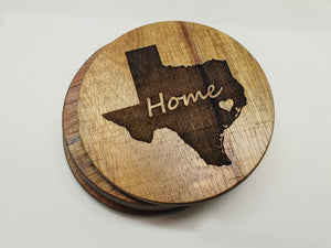Home State Heart Over City Coasters  -  Home State Heart Over City Coasters  -  Coaster