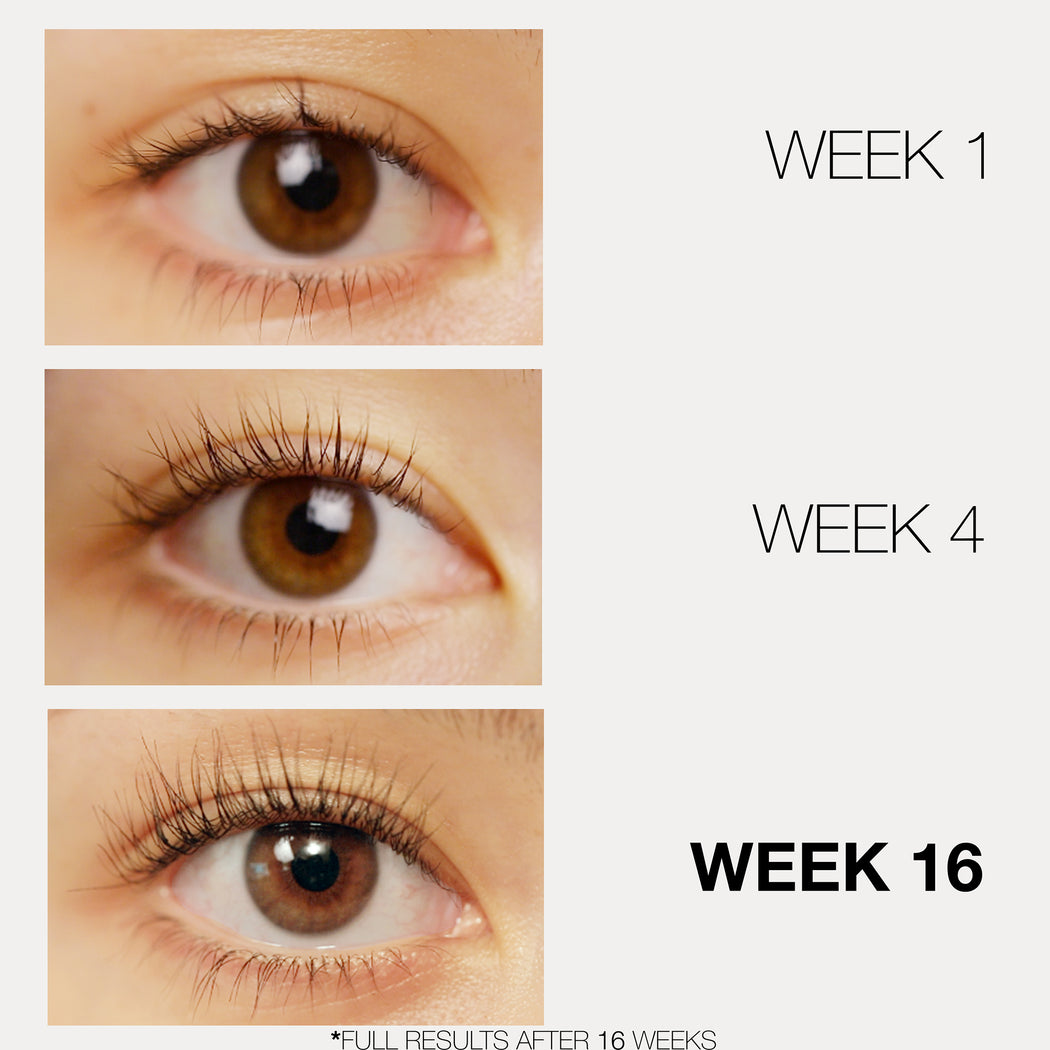 Lash enhancers with results. Eyelash growth