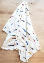 Load image into Gallery viewer, FALLING FEATHERS Organic Cotton Swaddling Blanket (65187938305)