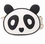 Cute Panda Leather Mini Handbag B - Pandan