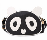 Cute Panda Leather Mini Handbag - Pandan