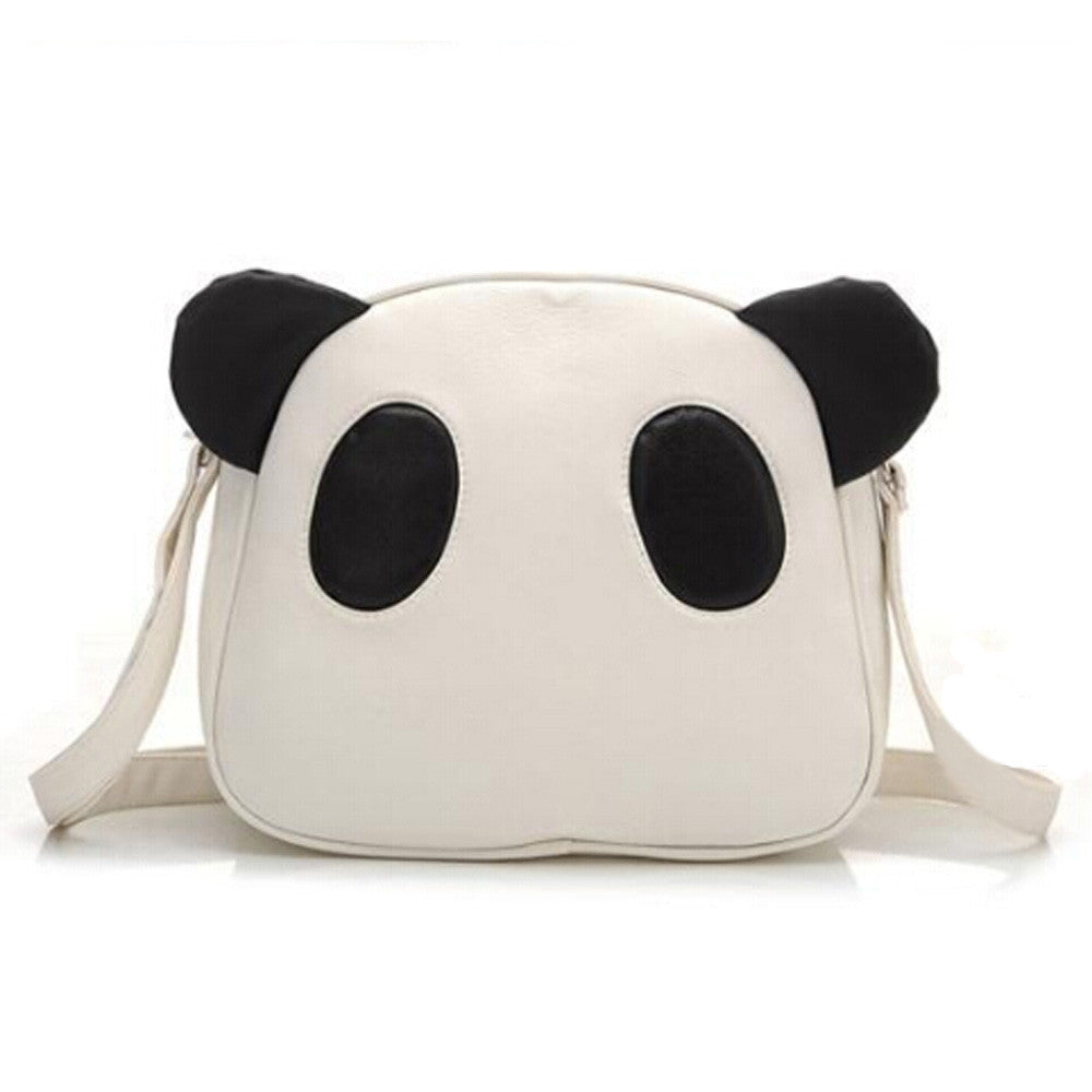 Cute Panda  Leather Handbag - Pandan