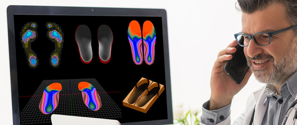 Final design process and simulation of foot orthotics