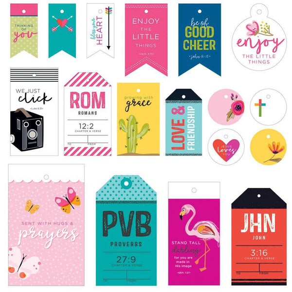 18 Cardstock Gift Tags by Illustrated Faith - Great for Christmas presents - Adventacle