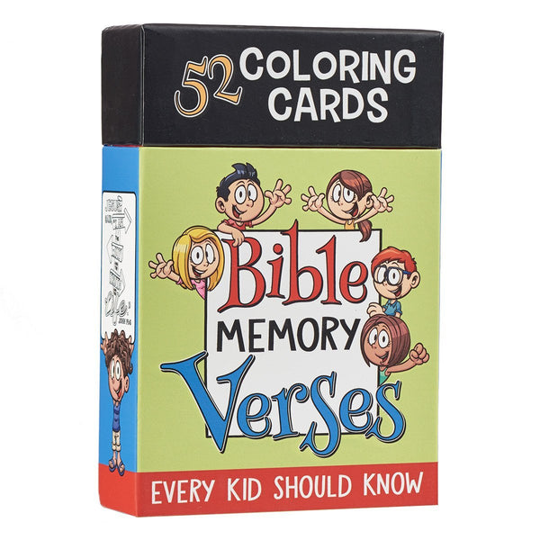 52 Bible Memory Verses Every Kid Should Know Coloring Cards for Kids - Adventacle