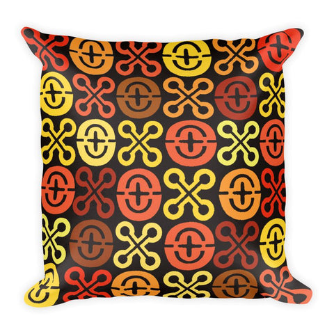 African Patterns Square Pillow - Adventacle