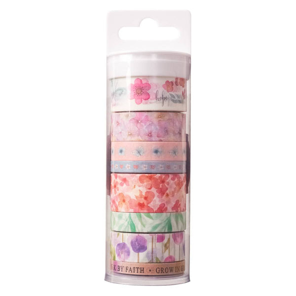 Bible Journaling Washi Tape Set - Set of 8 pieces - Blossoms of blessings OR 4 piece set - Forever Thankful - Adventacle