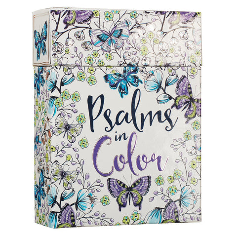 Bible verse coloring cards to color and share - Psalms color cards - stocking stuffer gift - Christian coloring cards - Adventacle