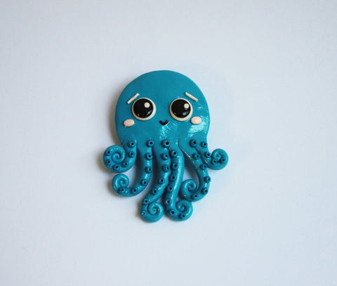 Handmade Octopus brooch - Adventacle