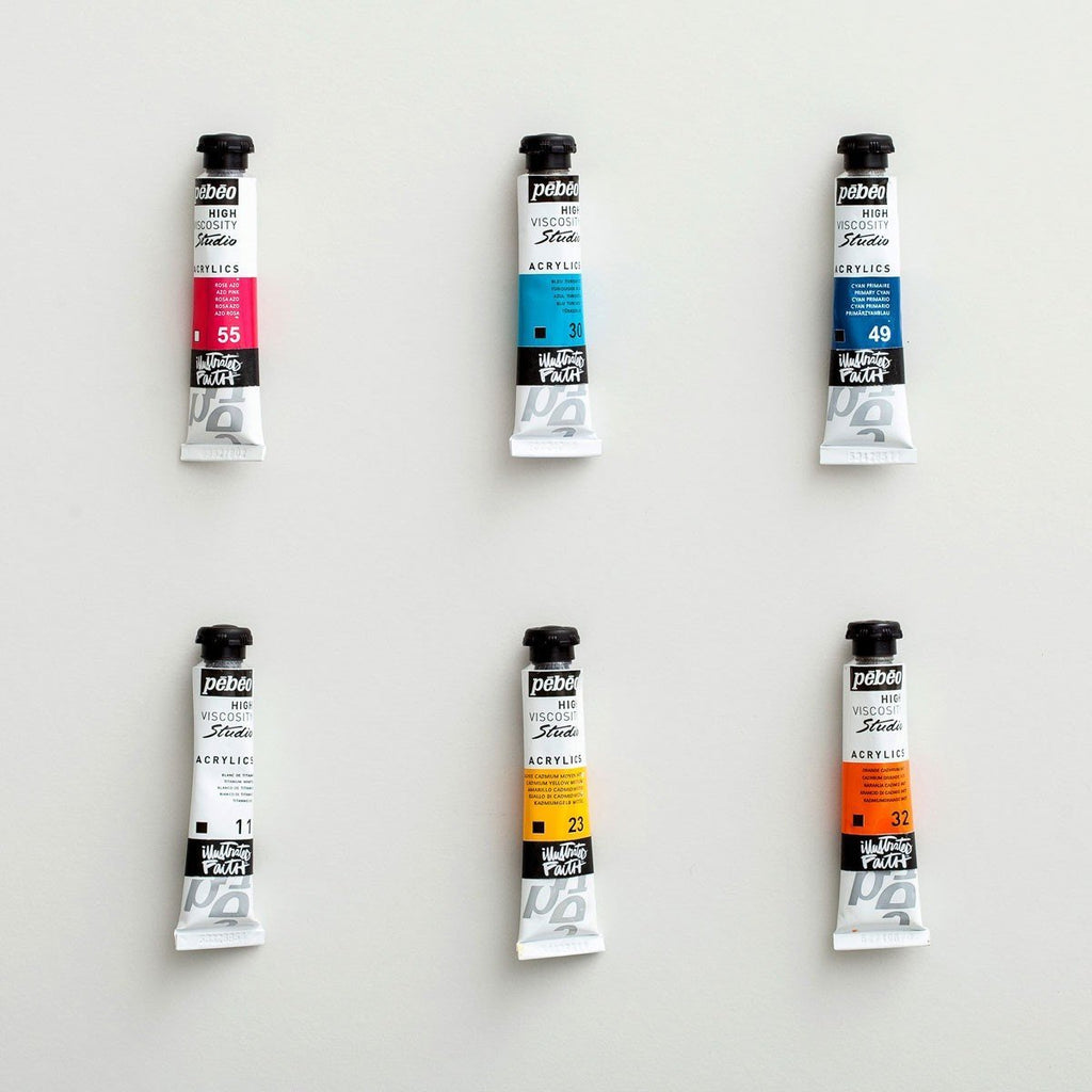 Illustrated Faith Acrylic Paint Set of 6 - Shanna's Favorites - Great Gift for Creative Bible Journaling Art or Scrapbooking - Adventacle