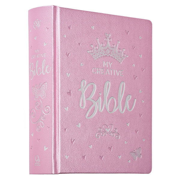 My Creative Bible for Girls - Pastel Pink Hardcover Journaling Bible in English Standard Version - Gift for Christmas, Birthdays, Baptism - Adventacle
