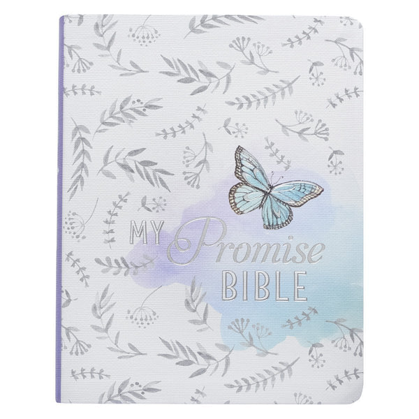 My Promise Bible for Creative Journaling - Blue Cover with Butterfly Leaf Pattern - KJV Journaling Bible - Adventacle