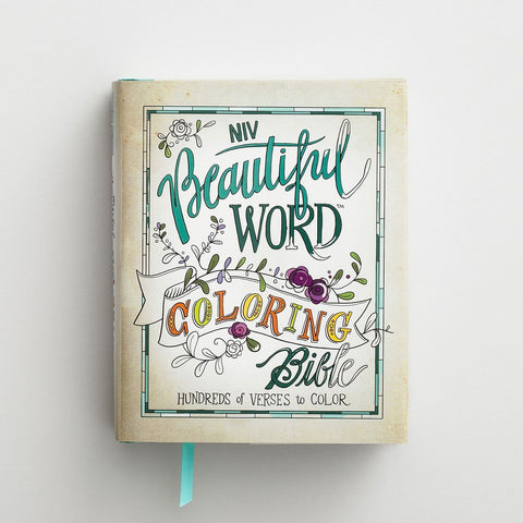 NIV Coloring Bible for Bible Journaling - Beautiful Word Coloring Bible, Hardcover - Adventacle