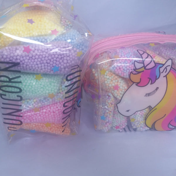Pastel foam beads set in ADORABLE storage pouch - Adventacle