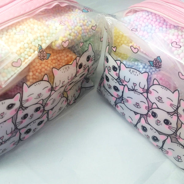 pastel foam beads cute cats