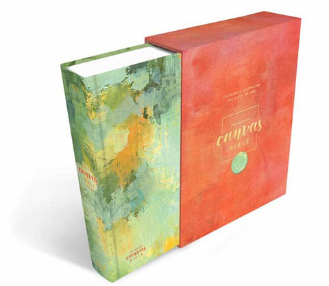 The Message Canvas Journaling Bible - Spring Palette Hardcover Bible - Adventacle