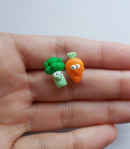 Veggie stud earrings - Adventacle