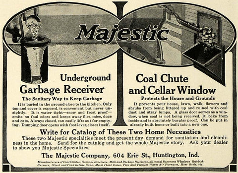 majestic garbage receiver advert