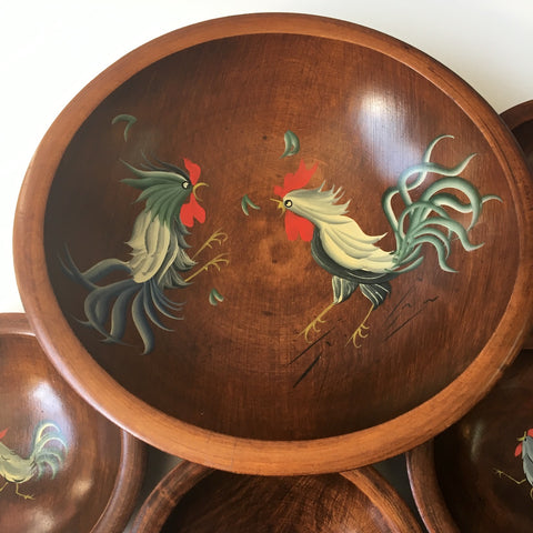 munising wooden ware rooster