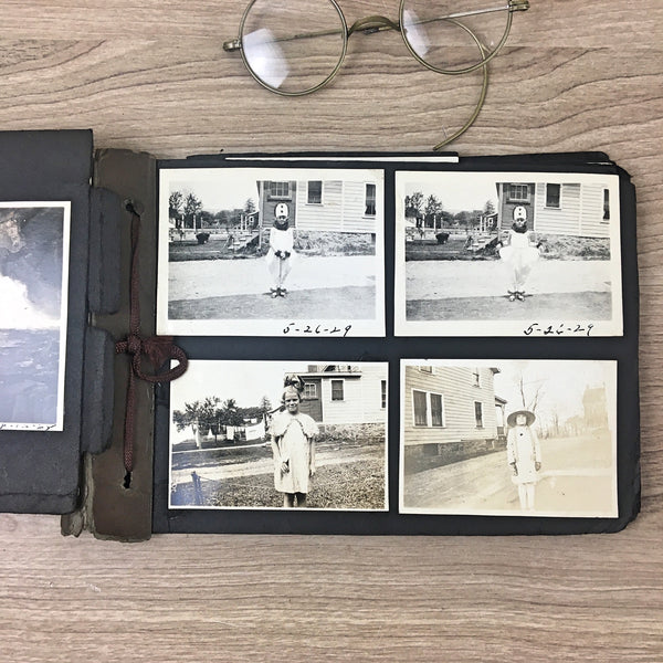 1920s - 1930s photograph album - snapshots of people, cars, special events, vacations - NextStage Vintage