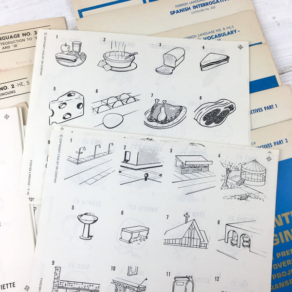 3M Printed Originals for Preparing Overhead Projection Transparencies - 1960s vintage Spanish and French school supplies - NextStage Vintage