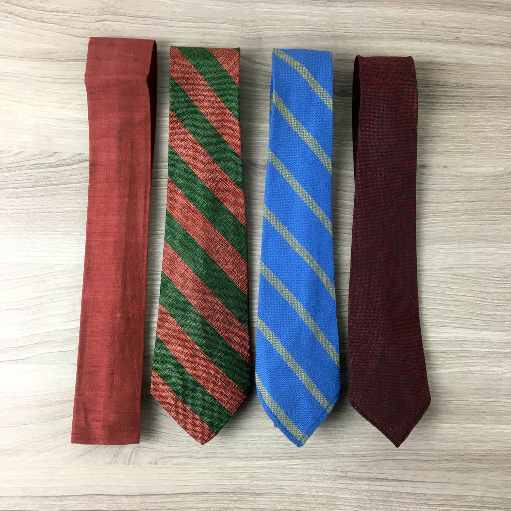 Vintage tie collection - wool and silk - alt awesome neckwear